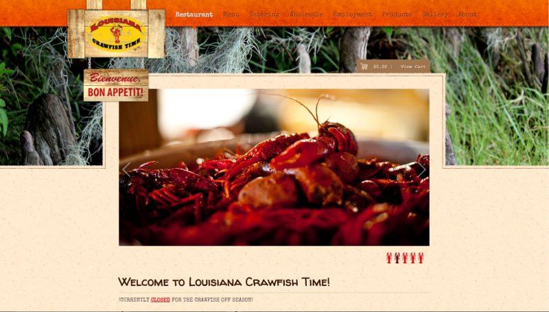 louisiana crawfish time web design
