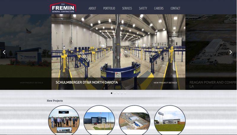 fremin general contractors website-design