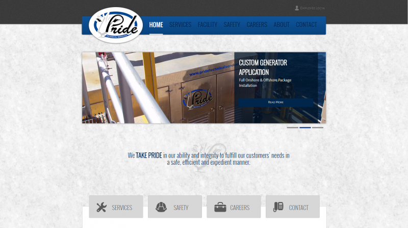 pride-technical-service-website-design