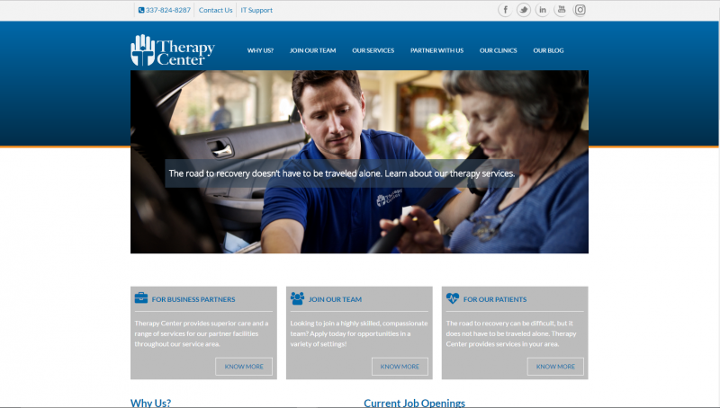 therapy-center-website-design