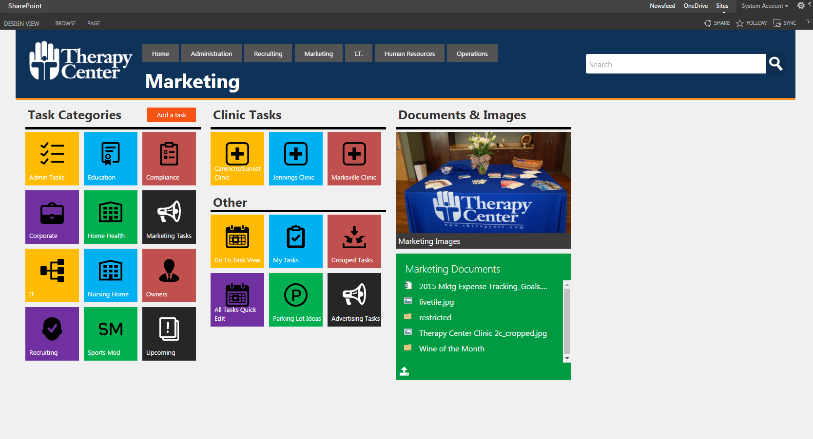 marketing sharepoint