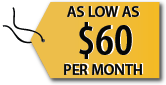 managed security as low as 60 dollars a month