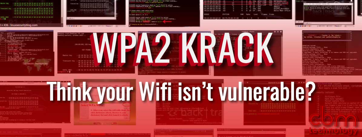 WPA2 Wifi Vulnerability